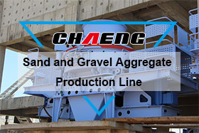 Sand and gravel aggregate production line